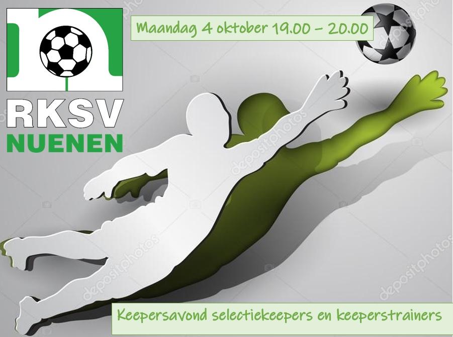 Keepersavond selectiekeepers en trainers RKSV Nuenen